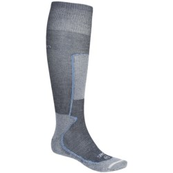 Lorpen Thermolite® Lightweight Ski Socks - 2-Pack, Over-the-Calf (For Men and Women) in Black/Grey/Orange