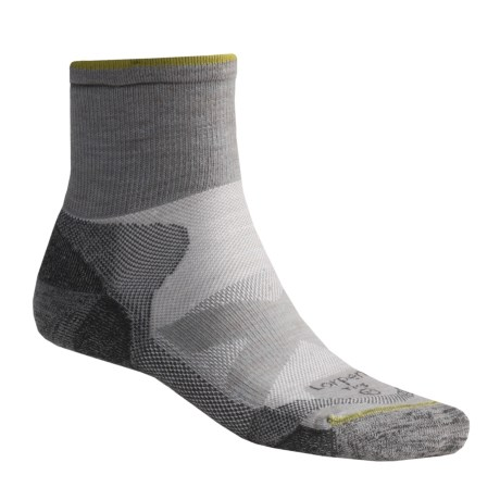 Lorpen TMS Hiking Socks - Quarter-Crew, 2 Pack (For Men and Women) in Grey
