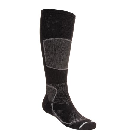 Lorpen Tri-Layer Light Cushion Ski Socks - PrimaLoft®, Merino Wool (For Men and Women) in Black