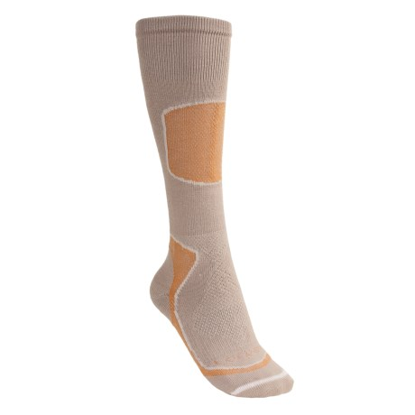 Lorpen Tri-Layer Light Cushion Ski Socks - PrimaLoft®, Merino Wool, Over-the-Calf (For Women) in Apricot