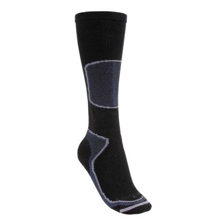 Lorpen Tri-Layer Light Cushion Ski Socks - PrimaLoft®, Merino Wool, Over-the-Calf (For Women) in Black
