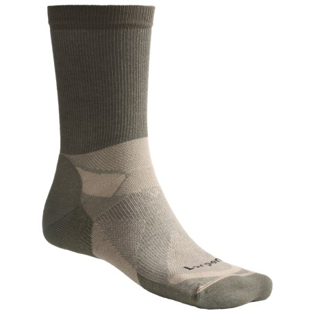 Lorpen Tri-Layer Light Hiker Socks - 2-Pack, Lightweight, Crew (For Men) in Fatigue Green