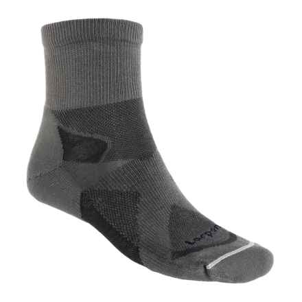 Lorpen Tri-Layer Light Hiking Shorty Socks (For Men and Women) in Charcoal/Anthracite - Closeouts