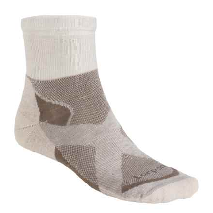 Lorpen Tri-Layer Light Hiking Shorty Socks (For Men and Women) in Dove Grey/Taupe - Closeouts