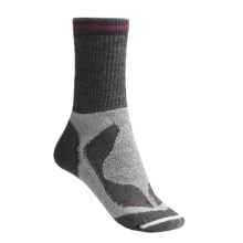 Lorpen Tri-Layer Midweight Hiker Socks - 2-Pack, PrimaLoft®, Merino Wool (For Women) in Grey Heather/Charcoal - 2nds