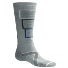 Lorpen Tri-Layer PrimaLoft® Ski Socks - Merino Wool, Medium Cushion (For Men and Women) in Light Grey - 2nds