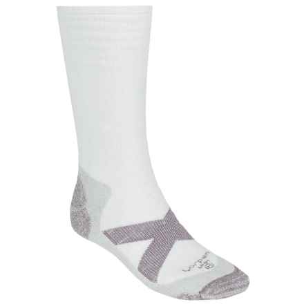 Lorpen Uniform Micromodal® Socks - Midweight, Crew (For Men) in White - 2nds