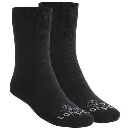 Lorpen Uniform Modal Socks - 2-Pack, Mid Calf (For Men and Women) in Black - 2nds