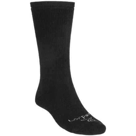 Lorpen Uniform Modal Socks - 2-Pack, Modal-Cotton, Midweight, Crew (For Men) in Black - 2nds