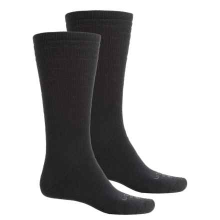 Lorpen Uniform Socks- 2-Pack, Modal Blend, Crew (For Men and Women) in Black - Closeouts