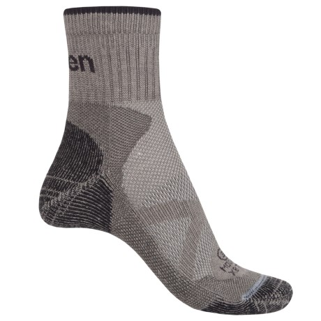 Lorpen Xtreme Bike Trail Modal Socks - Ankle (For Men and Women) in Gray