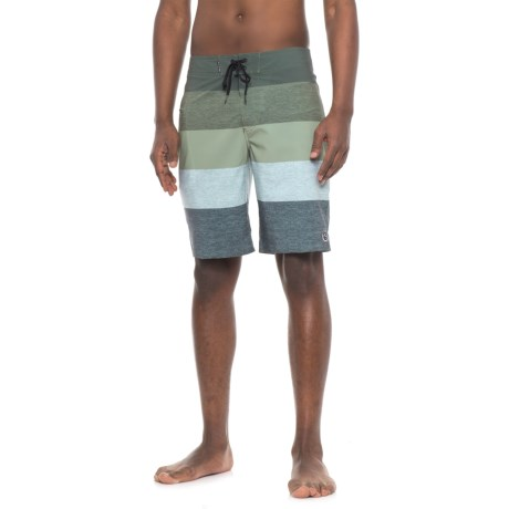Lost Ringer Boardshorts (For Men) in Olive