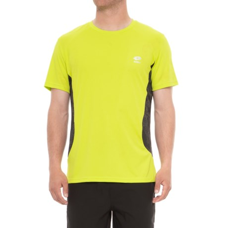 Lotto Active T-Shirt - Crew Neck, Short Sleeve (For Men) in Yellow