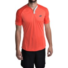 Lotto Carter Shirt - V-Neck, Short Sleeve (For Men) in Red Warm - Closeouts