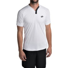 Lotto Carter Shirt - V-Neck, Short Sleeve (For Men) in White - Closeouts