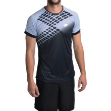Lotto Conner Crew Neck Shirt - Short Sleeve (For Men) in Deep Navy/Myosotis - Closeouts