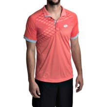 Lotto Connor Net Polo Shirt - Short Sleeve (For Men) in Orange Neon/Red Warm - Closeouts
