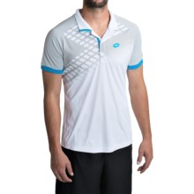 Lotto Connor Net Polo Shirt - Short Sleeve (For Men) in White/Maldive - Closeouts