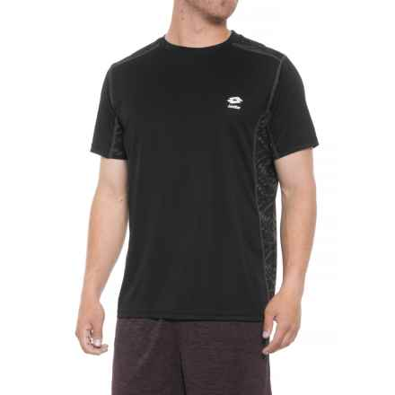 Lotto Graphic Print T-Shirt - Crew Neck, Short Sleeve (For Men) in Black - Closeouts