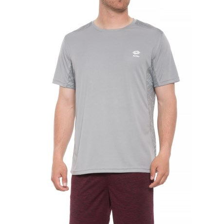 Lotto Graphic Print T-Shirt - Crew Neck, Short Sleeve (For Men) in Grey