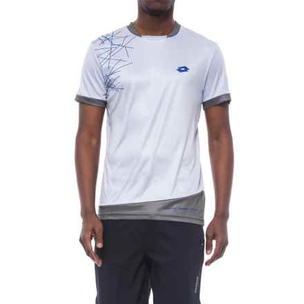 Lotto Training Shirt - Short Sleeve (For Men) in Light Grey - Closeouts