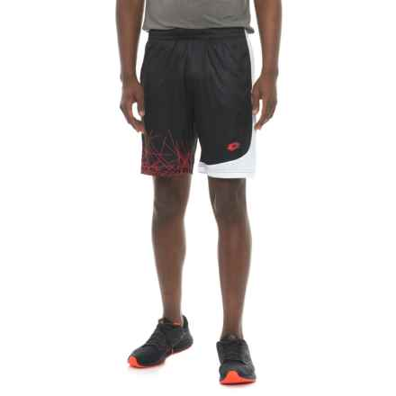 Lotto Training Shorts (For Men) in Black/White/Red Print - Closeouts