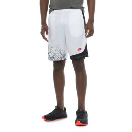 Lotto Training Shorts (For Men) in White/Black/Black Print