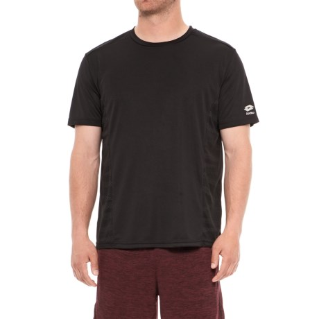 Lotto Training T-Shirt - Crew Neck, Short Sleeve (For Men) in Black
