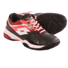 Lotto Vector VI Tennis Shoes (For Women) in Black/Fluorescent Carrot - Closeouts