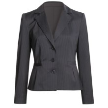 Louben Broken Pinstripe Jacket (For Women) in Navy - Closeouts
