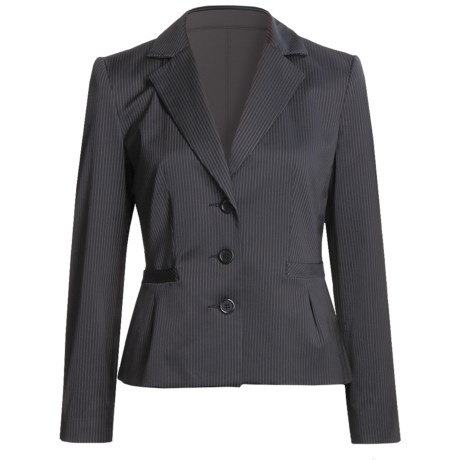 Louben Broken Pinstripe Jacket (For Women) in Navy