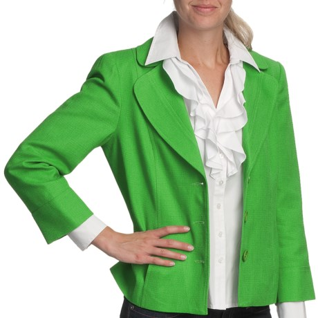 Louben Classic Forever Jacket (For Women) in Golf Green