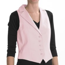Louben Cotton-Linen Vest - Notched Lapel (For Women) in Pink - Closeouts