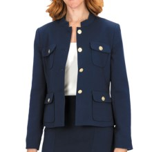 Louben Four-Button Jacket (For Women) in Navy - Closeouts