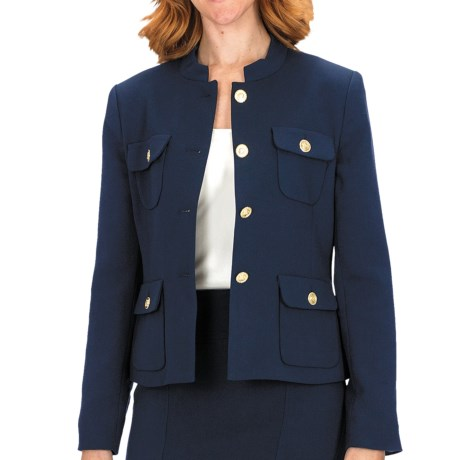 Louben Four-Button Jacket (For Women) in Navy