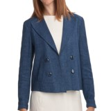 Louben Linen Crop Jacket (For Women)