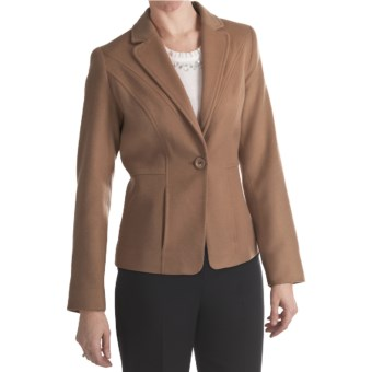 Louben Luxe Wool-Cashmere Blazer (For Women) in Biscotti