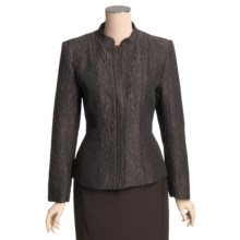 Louben Mandarin Collar Jacket - Hidden Zipper (For Women) in Chocolate - Closeouts
