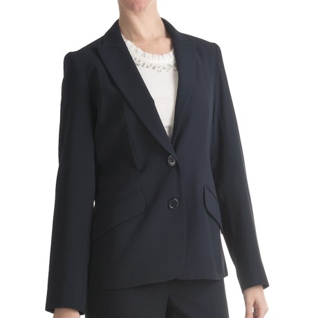 Louben Narrow-Lapel Blazer (For Women) in Navy