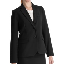 Louben Narrow-Lapel Blazer - Two Button (For Women) in Black - Closeouts