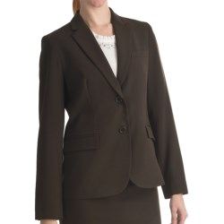 Louben Narrow-Lapel Blazer - Two Button (For Women) in Black