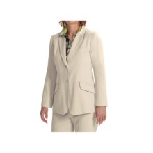 Louben Notched Lapel Blazer (For Women) in Champagne - Closeouts
