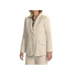 Louben Notched Lapel Blazer (For Women) in Champagne