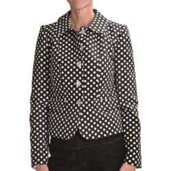 Louben Polka-Dot Jacket (For Women) in Licorice