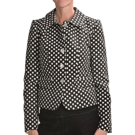 Louben Polka-Dot Jacket (For Women) in Licorice