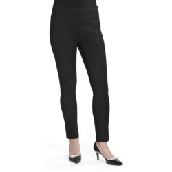 Louben Ponte Knit Stretch Pants - Slim Leg (For Women) in Black