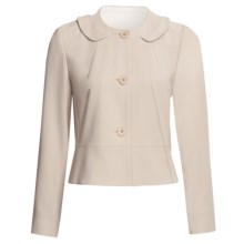 Louben Round Neck Jacket - 3-Button Front (For Women) in Champagne - Closeouts