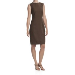 Louben Sheath Dress - Linen-Rayon, Sleeveless (For Women) in Espresso