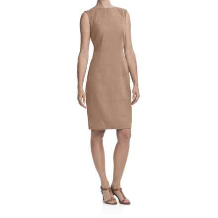 Louben Sheath Dress - Linen-Rayon, Sleeveless (For Women) in Tan - Closeouts