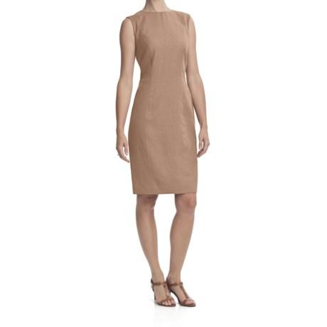 Louben Sheath Dress - Linen-Rayon, Sleeveless (For Women) in Tan